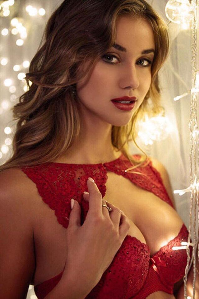 Gorgeous busty woman